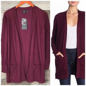 Devotion By Cyrus Open Front Ribbed Cardigan S